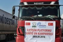 Suriye un TIR'ımız kardeşlerimize ulaştı
